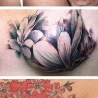 Tatuagens femininas em locais íntimos.