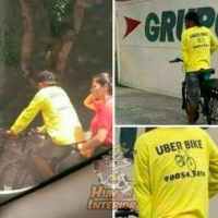 Uberbike é a nova moda no Brasil.