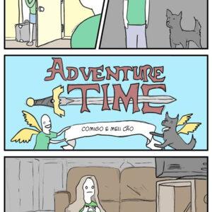 Aventuras de alguém sozinho em casa com seu cão