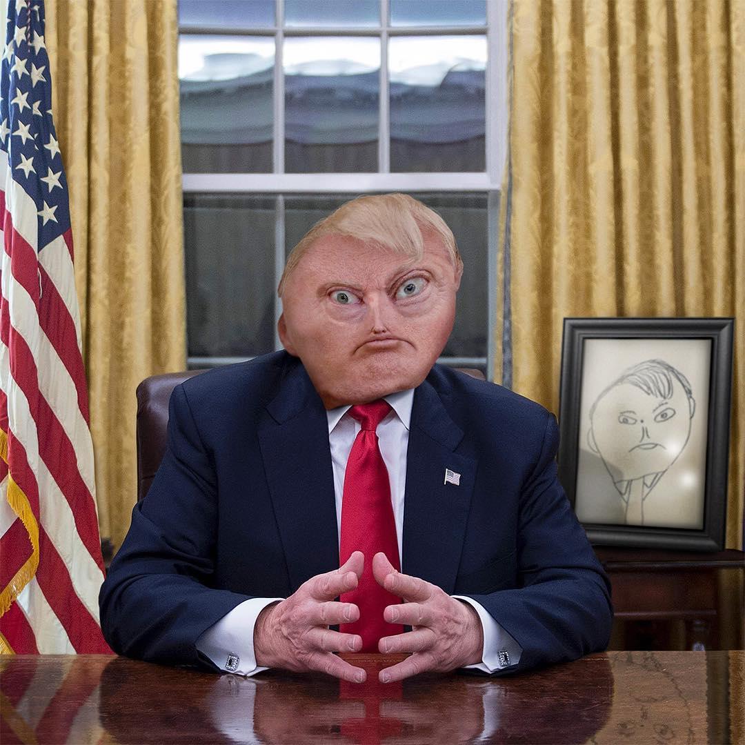 Donaldo Trump desenhado por crianças 2