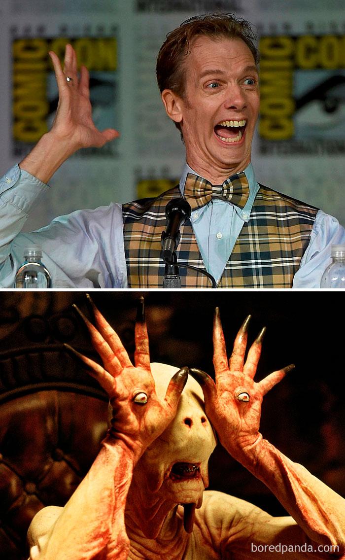 Doug Jones, como Pale Man, em o Labirinto do Fauno