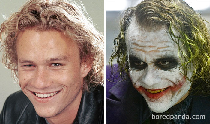 Heath Ledger como Coringa em Batman O Cavaleiro das Trevas