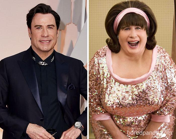 John Travolta, como Edna Turnblad, em Hairspray Em Busca da Fama