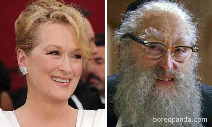 Meryl Streep, como Rabi, em Anjos na América