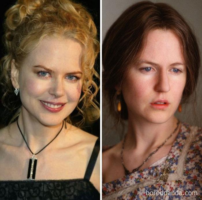 Nicole Kidman, como Virginia Woolf, em As Horas