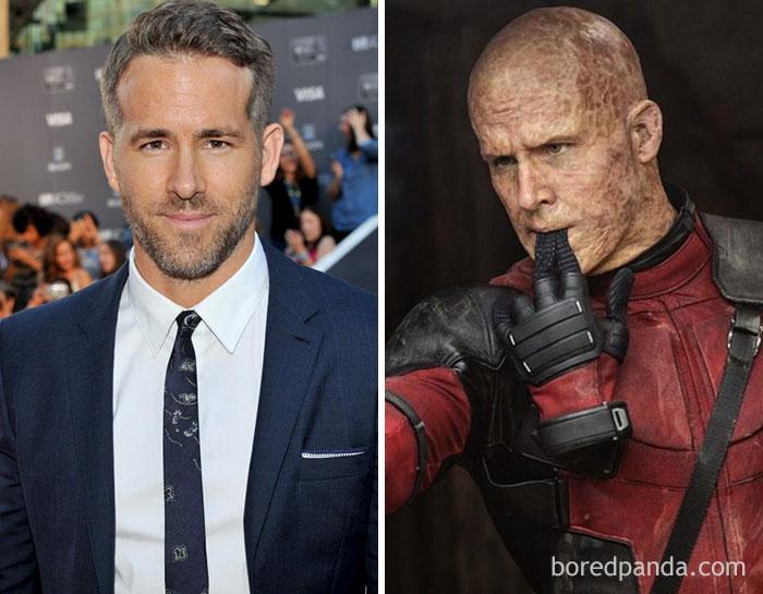 Ryan Reynolds, como Deadpool, em Deadpool