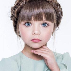 Ela foi considerada a menina mais bonita do mundo. Você concorda?
