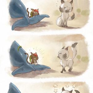 Como conquistar uma gata? Uma ilustração muito fofa
