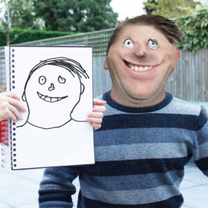 Esse pai divertido resolveu transformar os desenhos das crianças em imagens realistas