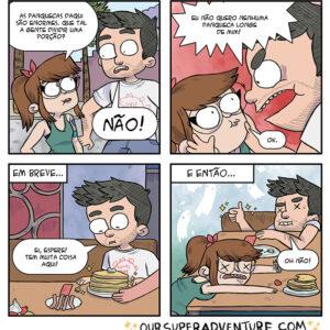 Os quadrinhos divertidos de um casal que sabe viver a vida