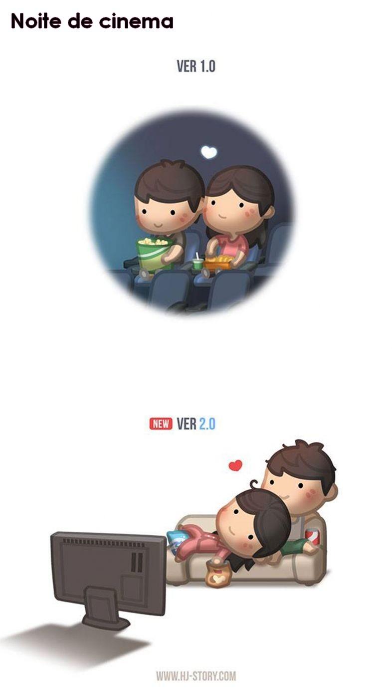 Lindas ilustrações sobre o amor