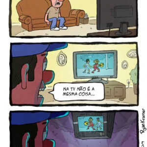 Assistir jogos ao vivo é muito diferente