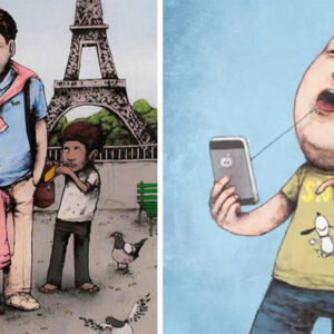 Confira 17 ilustrações críticas que são um choque de realidade
