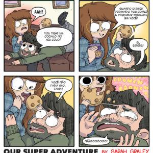 5 quadrinhos sobre as aventuras de um casal carinhoso