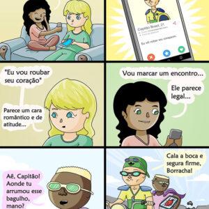 Um relacionamento perigoso no Tinder e outros quadrinhos interessantes