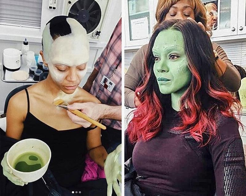 A maquiagem de Zoe para Guardiões da Galáxia