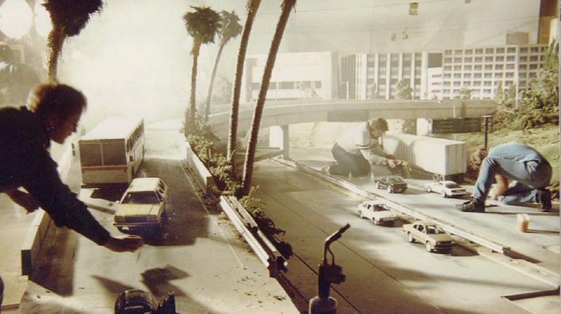 Maquete em uma cena do filme O Exterminador do Futuro 2 – O Julgamento Final