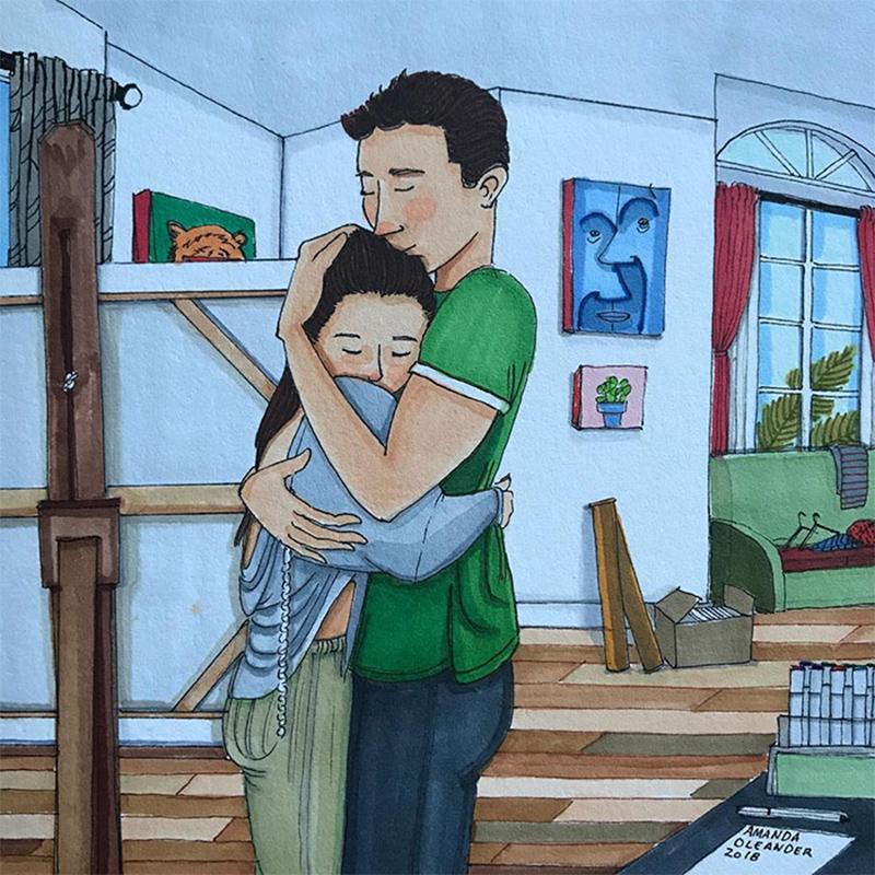 Um abraço cheio de amor