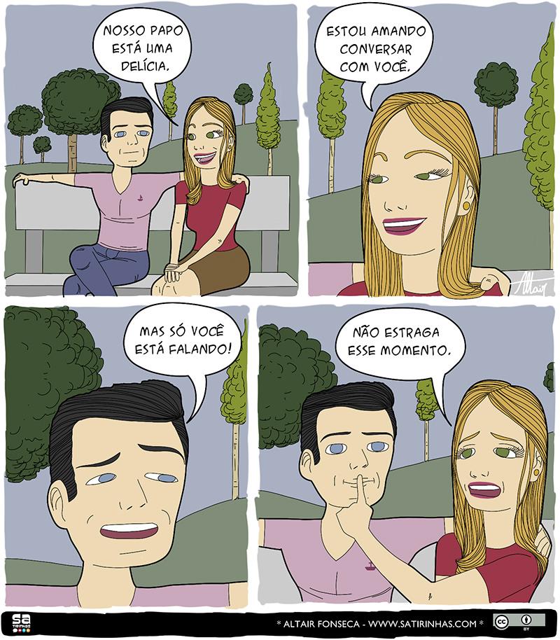 Quando só a mulher pode falar e outros quadrinhos engraçados
