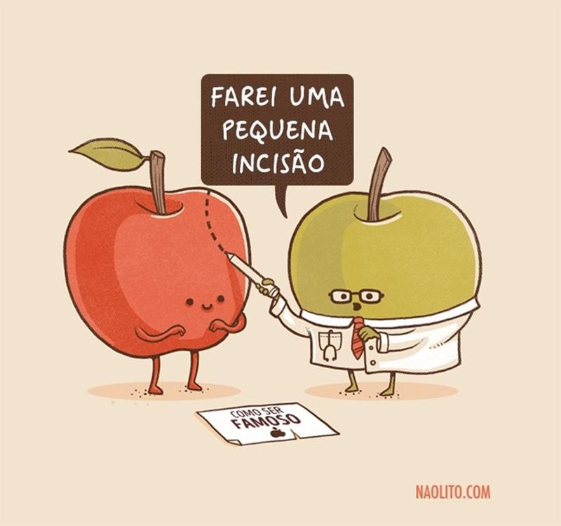 Uma maçã e a cirurgia plástica