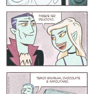Quadrinhos: Vampiros no restaurante e outros