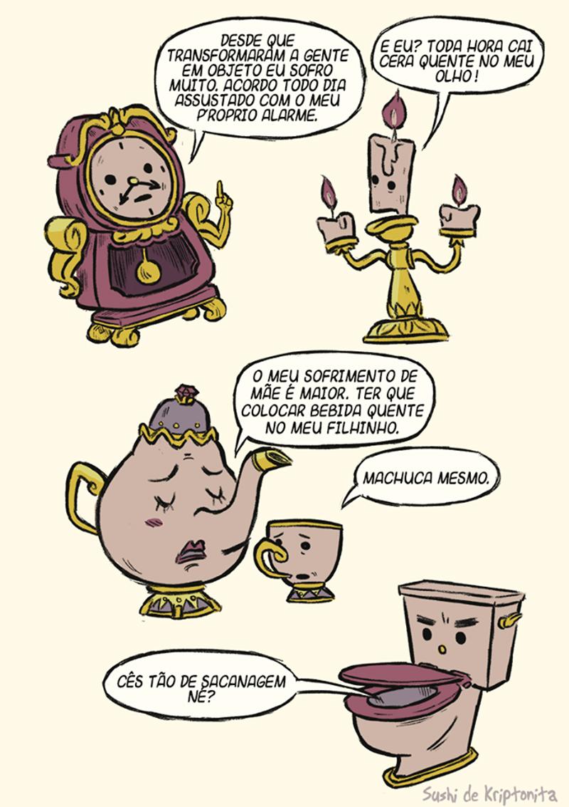 objetos que falam em quadrinhos
