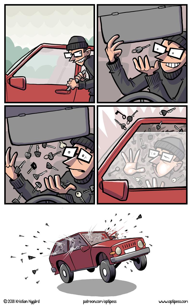 Os quadrinhos loucos e divertidos do Optipess