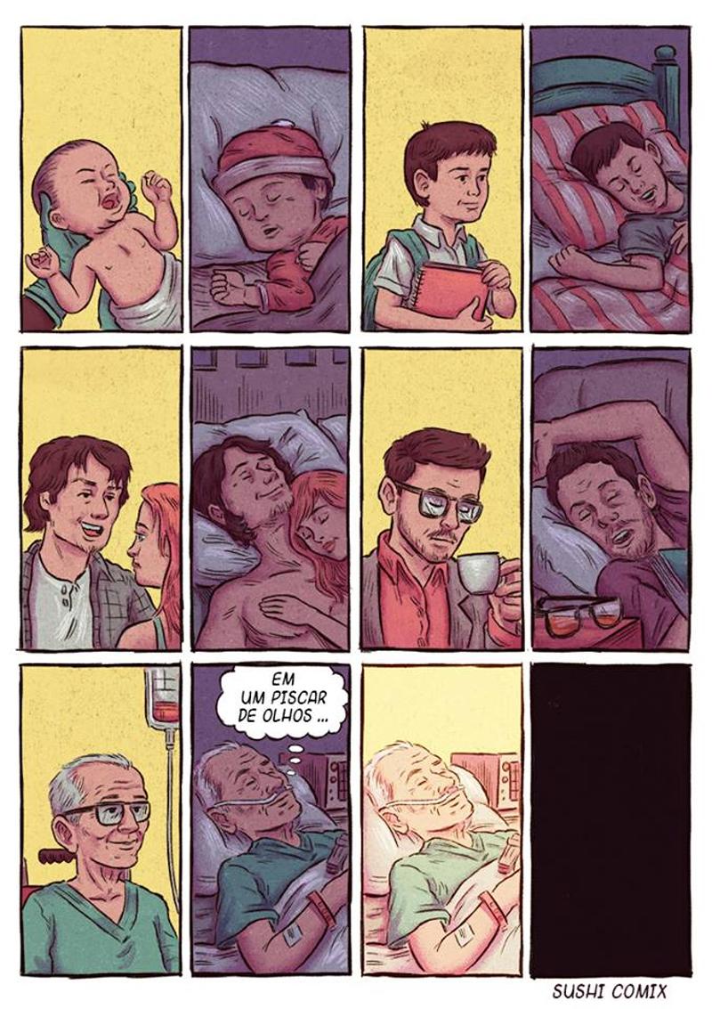 Sentimentos em quadrinhos