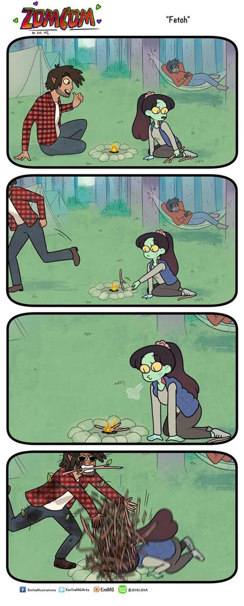 Quando um humano namora uma zumbi