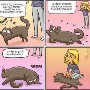Quadrinhos para quem tem uma gatinha manhosa em casa