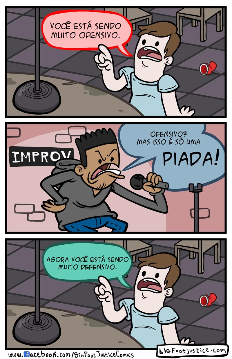 piadas ofensivas