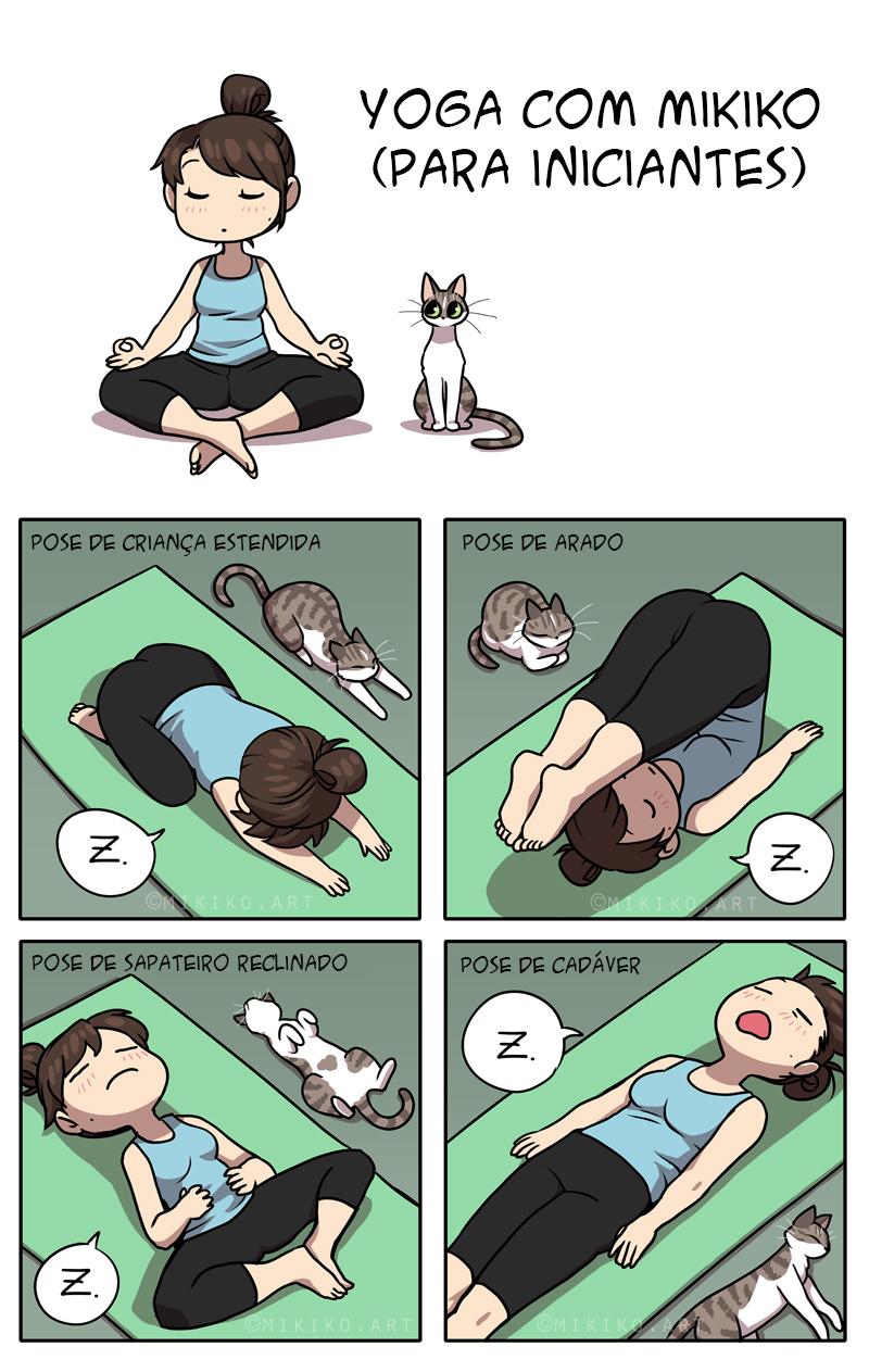 Yoga para iniciantes com a divertida Mikiko