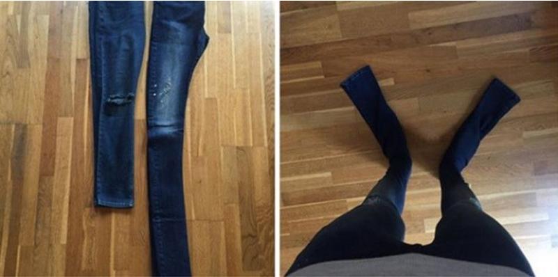 Calça jeans estilizada