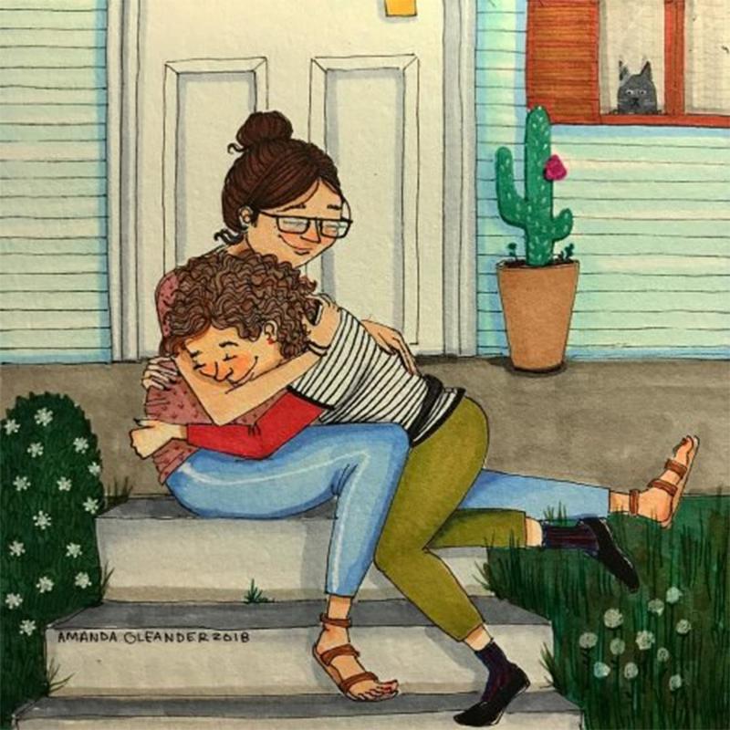O melhor lugar do mundo é dentro de um abraço