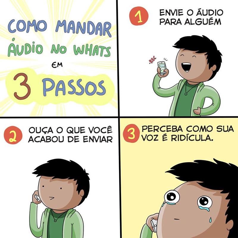 Áudios no Whatsapp