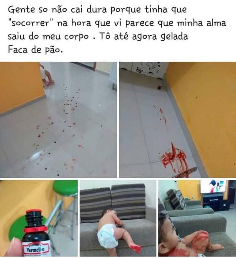A brincadeira de criança que quase matou a mãe de susto