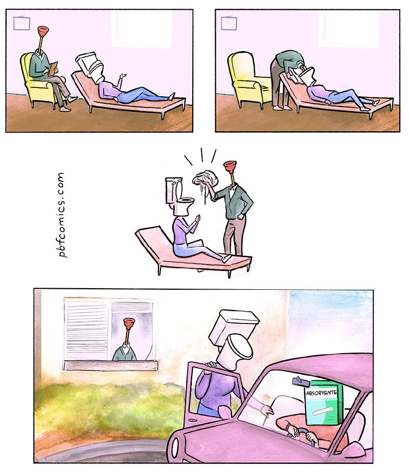 Relacionamentos tóxicos em 3 quadrinhos loucos