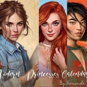 Artista recria princesas da Disney em versão atual