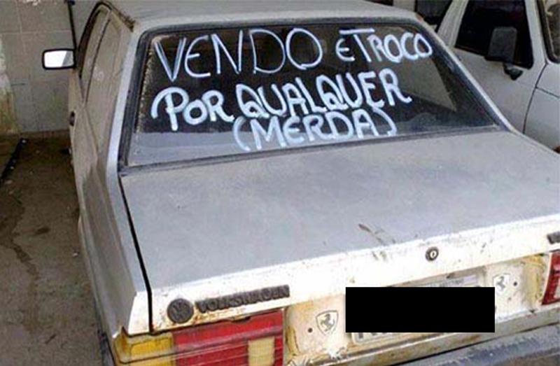 13 adesivos de carros que mostram como o brasileiro é criativo e não perde uma piada