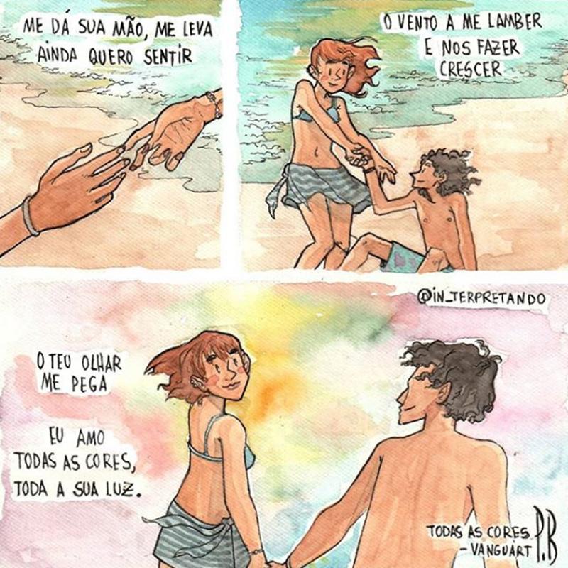 amor em quadrinhos