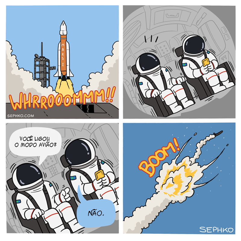 A morte de dois astronautas