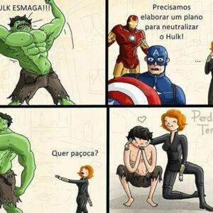 Acalmando o Hulk e outros quadrinhos engraçados
