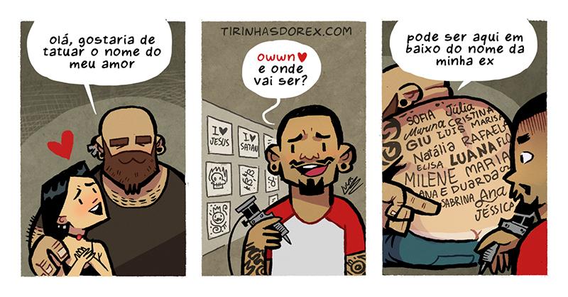 Tatuagem com o nome da ex