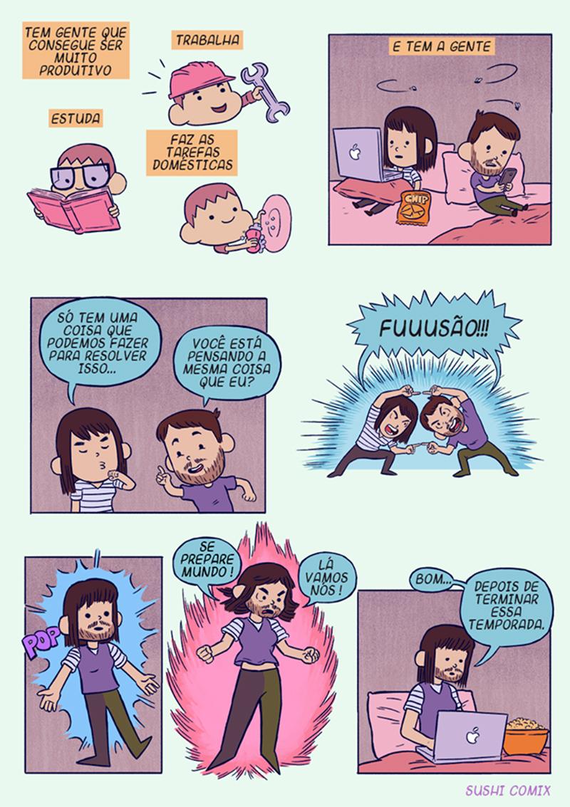 Depressão e falta de foco em quadrinhos para pensar