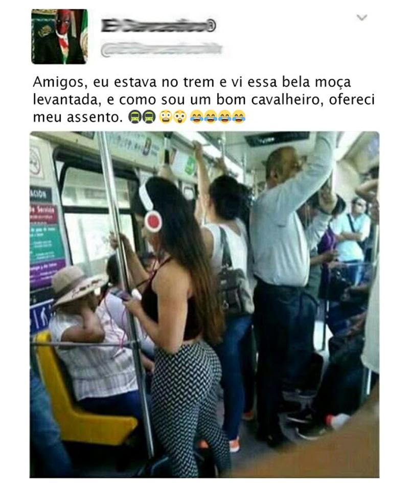 Uma bela mulher no trem