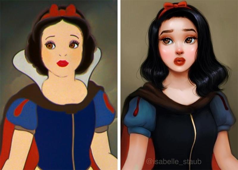 Artista recria princesas da Disney de um jeito apaixonante
