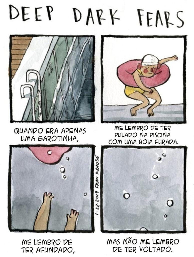 medo de afundar