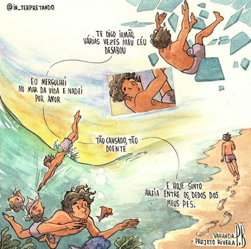 mergulhando no mar da vida