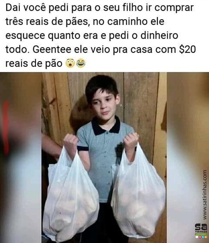 3 reais de pão