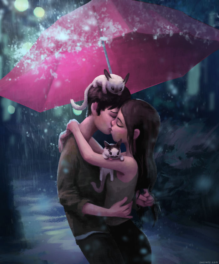 Zac Retz ilustrações sobre o amor